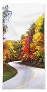 Fall Colors Along The Blueridge Parkway Beach Towel