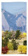 Fall Colors Along The Flatirons Beach Towel