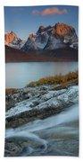 Fall Colors In Tasermiut Fiord Beach Towel