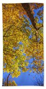 Fall Colors In The Sky  Beach Towel