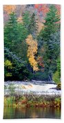 Fall Colors On The  Tahquamenon River   Beach Towel