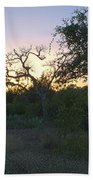 Cedar Park Texas Fall Creek Sunset Beach Towel