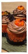 Fall Cupcakes Beach Towel