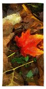 Fall Flames Out Beach Towel