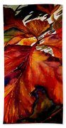 Autumn Dressage Beach Towel