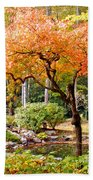 Fall Folage And Pond 2 Beach Towel