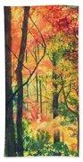 Fall Foliage Beach Towel by Barbara Jewell