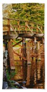 Fall Foliage Over The North Bridge Beach Towel