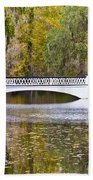 Fall Footbridge Beach Towel