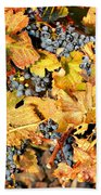 Fall Grapes Beach Towel