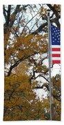 Fall In America Beach Towel