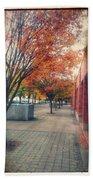 Fall In Downtown Vancouver Washington Beach Towel