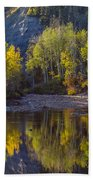Autumn Reflections In Fort Mcmurray Beach Towel