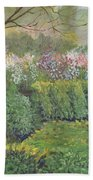 Fall In Monet's Garden Beach Towel
