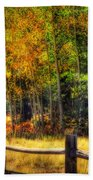 Fall Is In The Air  Beach Towel