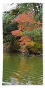 Fall Landscape Around The Lake 2 Beach Towel