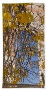 Fall Leaves On Open Windows Jerome Beach Towel
