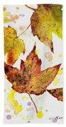 Fall Leaves Beach Sheet