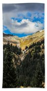 Fall On Red Mountain Pass Beach Towel