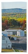 Fall On The Farm Beach Towel