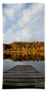Fall On The Lake Beach Towel