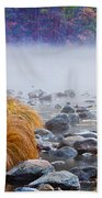 Fall On The Merced Beach Towel by Bill Gallagher