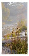 Fall On The River Beach Towel