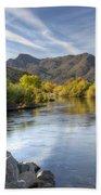 Fall On The Salt River  Beach Towel