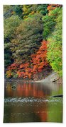 Fall Painting Beach Towel by Frozen in Time Fine Art Photography