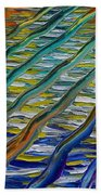 Fall Panel 4 Big Waves Beach Towel