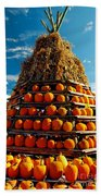 Fall Pumpkins Beach Towel