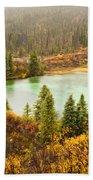 Fall Rain On Wilderness Lake Yukon T Canada Beach Towel