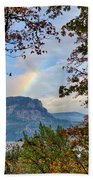 Fall Rainbow Beach Towel