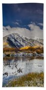 Fall Reflection Pond Beach Towel