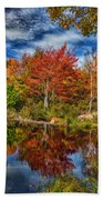Fall Reflections In Maine Img 6312 Beach Towel