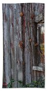 Fall Reflections On Weathered Glass Beach Towel