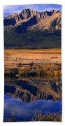 Fall Reflections Sawtooth Mountains Idaho Beach Towel