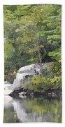 Fall Reflections Wc Beach Towel