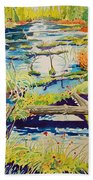 Fall River Scene Beach Towel