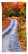 Fall Road To Paradise Beach Towel