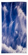 Fall Streak Clouds  Beach Towel