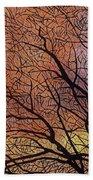 Fall Sunset Beach Towel