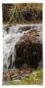 Fall Time Waterfalls Beach Towel