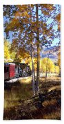 Fall Train Ride New Mexico Beach Towel