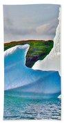 Fallen Clouds Iceberg Closeup In Saint Anthony Bay-newfoundland-canada  Beach Towel