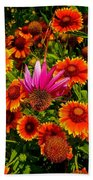 Fallen Coneflower Beach Towel