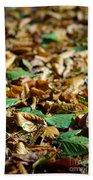 Fallen Leaves Beach Sheet