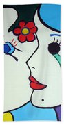 Falling In Love Beach Towel