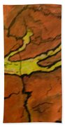 Falling Man Rock Art Beach Towel