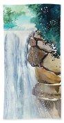 Falling Waters Beach Towel